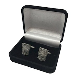 Crest cufflinks antique silver
